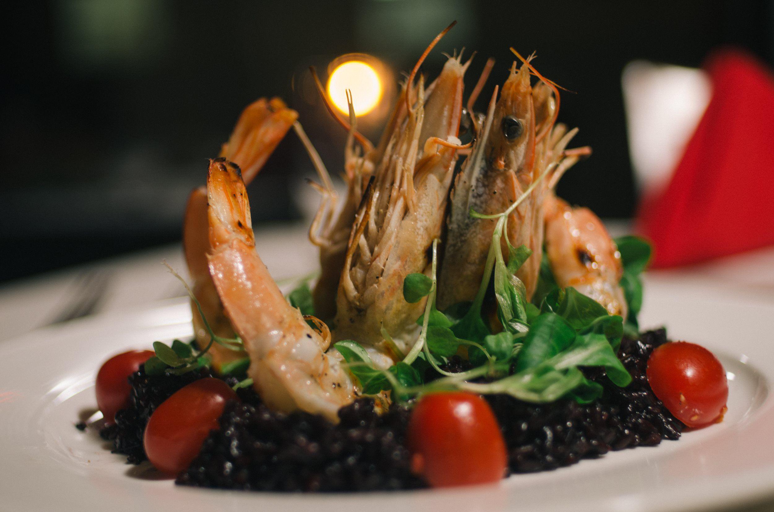 shrimp and tomato