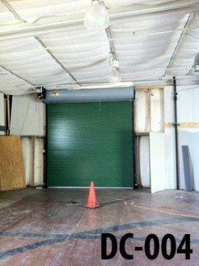 Green Commercial Overhead Doors