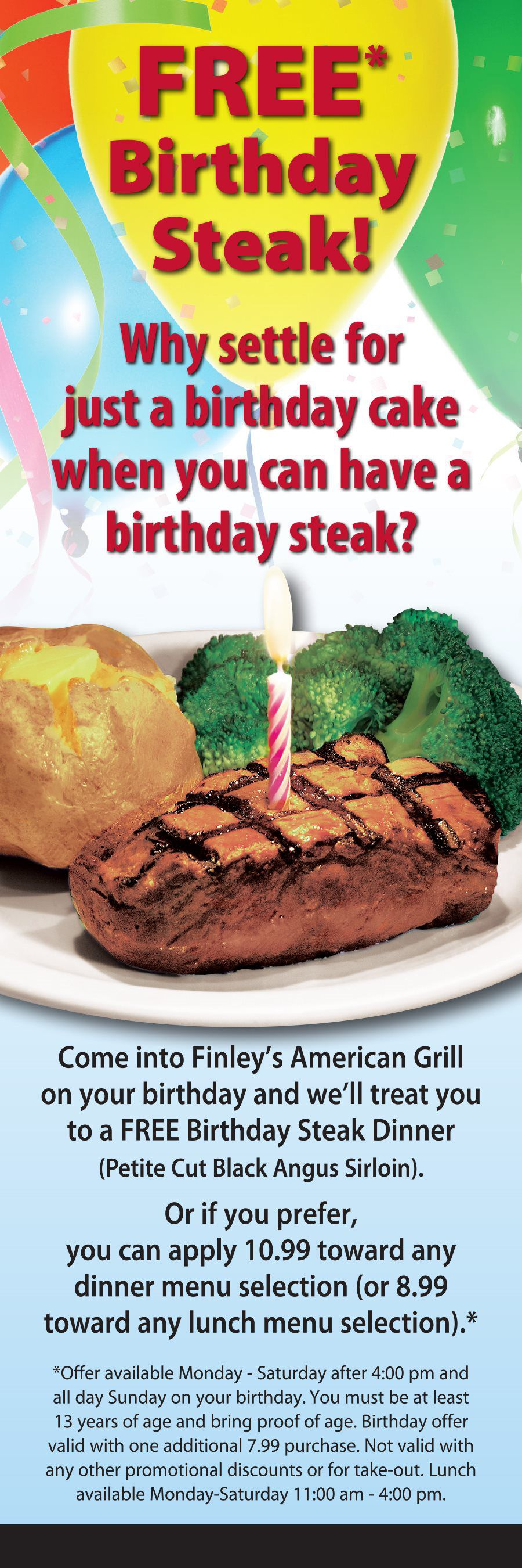 free steak dinner on your birthday