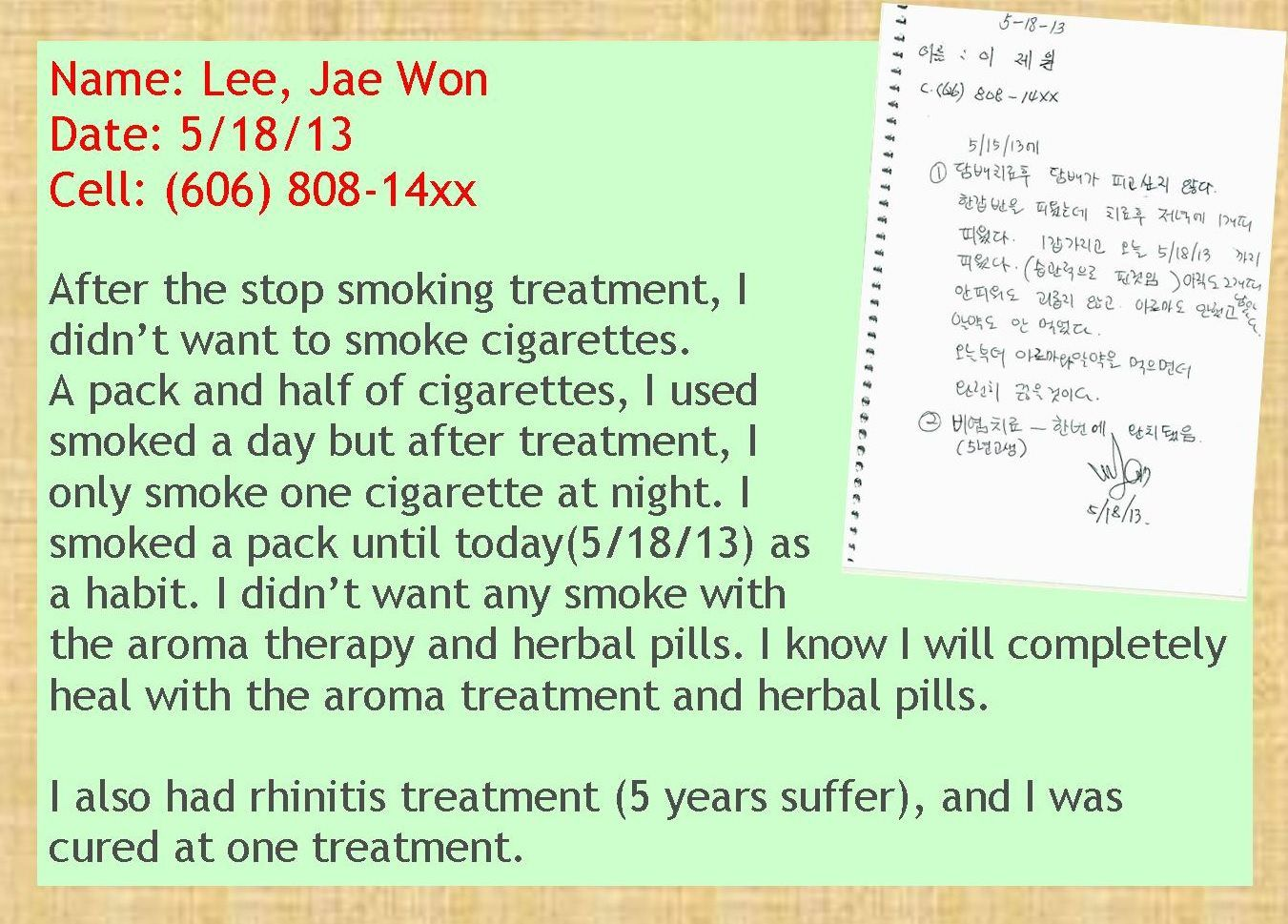 100% Success Rate in Stop Smoking Treatment! - Dr  Grace Choi Clinic