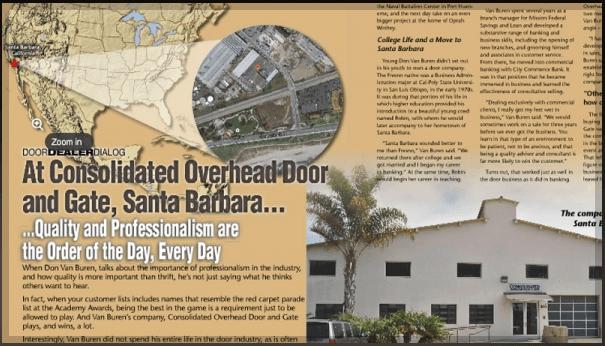 Consolidated Overhead Door And Gate Was Recently Featured In International  Door Associationu0027s Publication International Door U0026 Operator Industry.