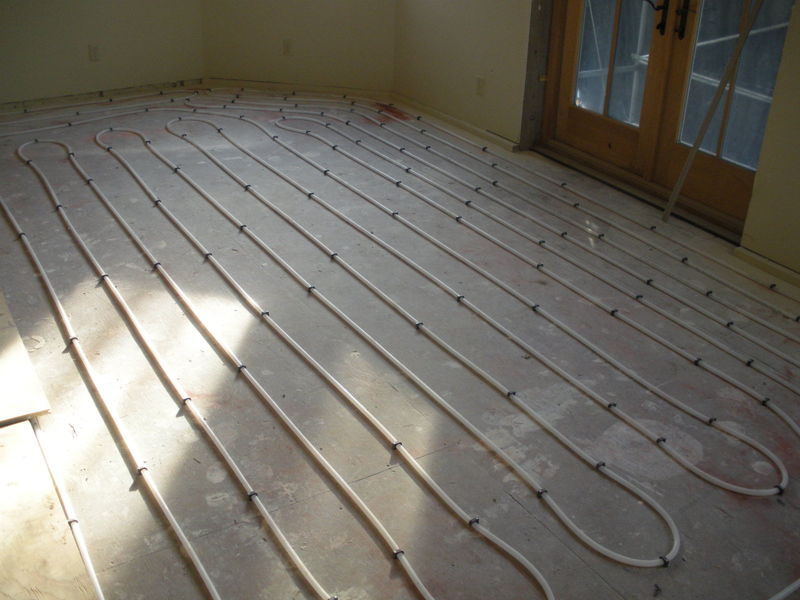 Radiant Heat Thermal Mass