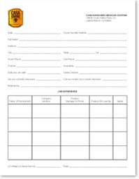 application form casa ranchero