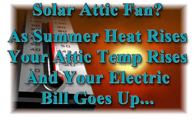 Solar Attic Fans & Solar Attic Fans - Arizona Energy Products