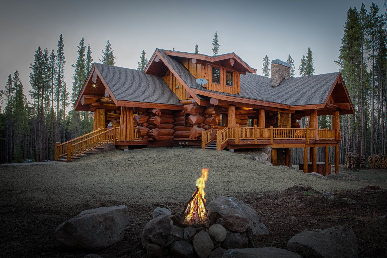 Home mountain log homes of colorado inc for Colorado mountain home plans
