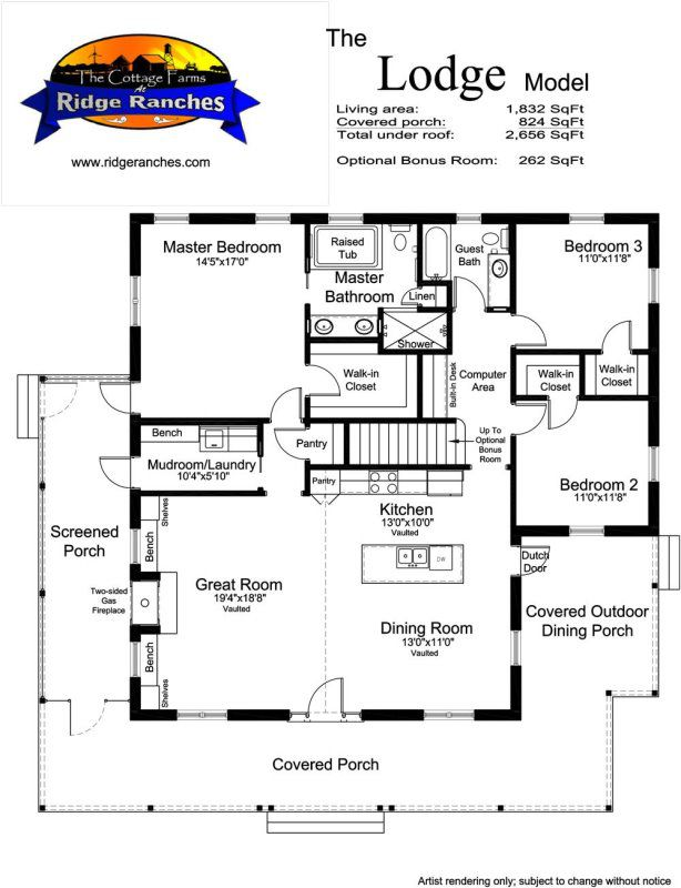 Floor Plan Options The Cottage Company