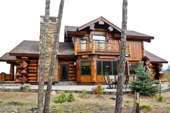 Water dance parade home mountain log homes of colorado inc for Western home builders