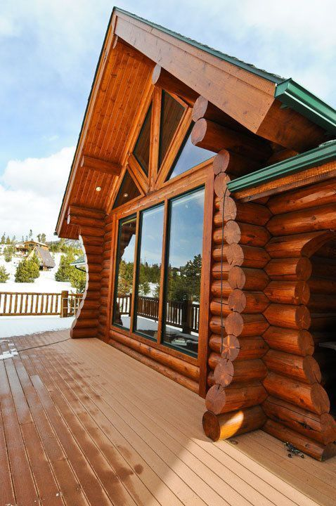 Ptarmigan active solar home mountain log homes of for Active solar house plans