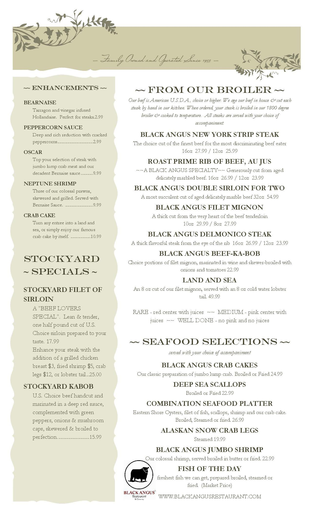 81 rows · Black Angus Steakhouse Menu Prices, Price List. List of prices for all items on the Black .