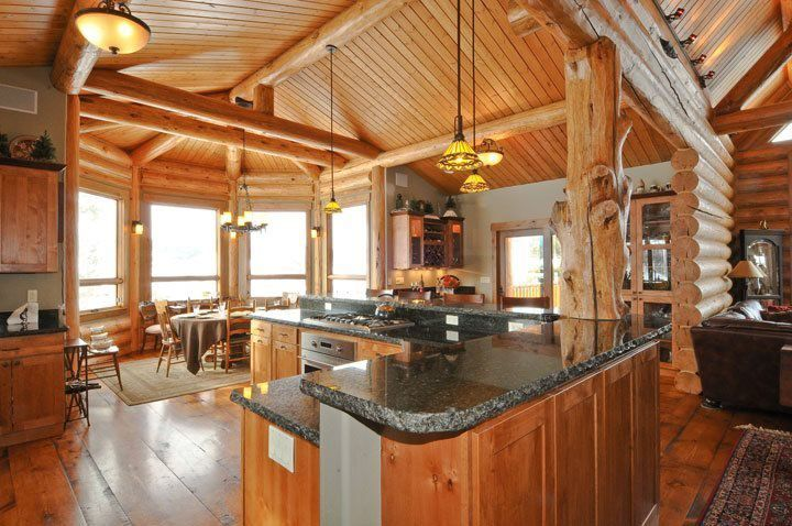 Gallery mountain log homes of colorado inc for Log home kitchens gallery